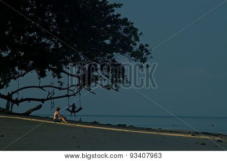 Rudimentary Swing At The Beach In Thailand