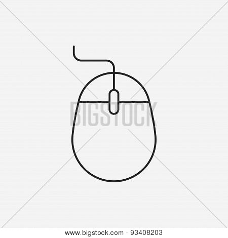 Office Mouse Line Icon