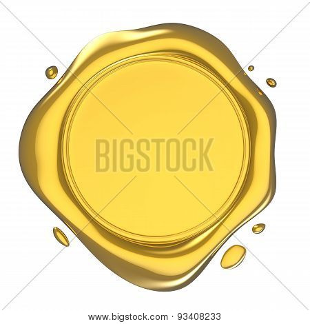 Golden Wax Seal Illustration