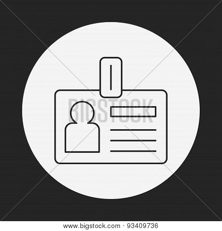 Office Id Line Icon