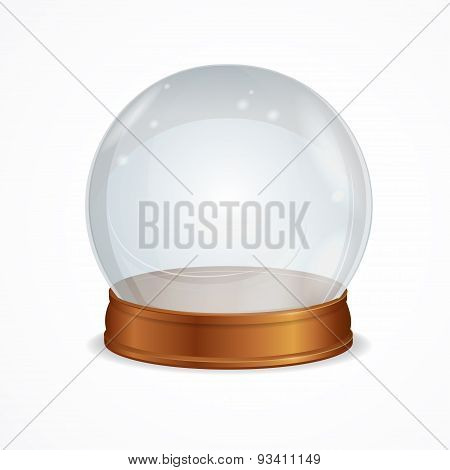 Vector empty transparent crystal ball