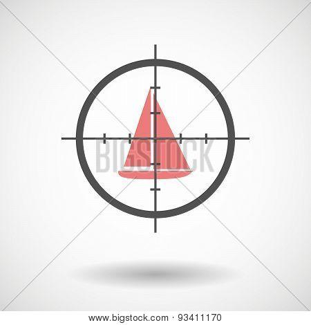 Crosshair Icon Targeting A Ship