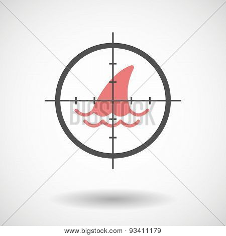 Crosshair Icon Targeting A Shark Fin