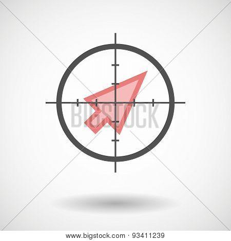 Crosshair Icon Targeting A Cursor