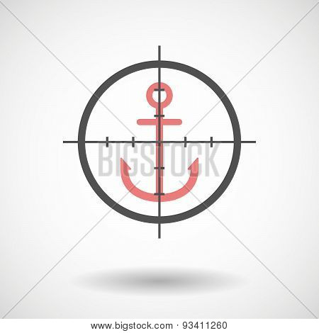 Crosshair Icon Targeting An Anchor