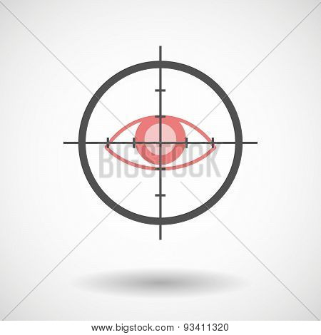 Crosshair Icon Targeting An Eye