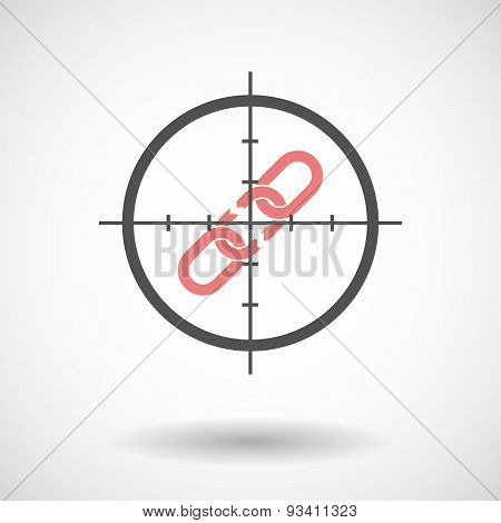 Crosshair Icon Targeting A Broken Chain
