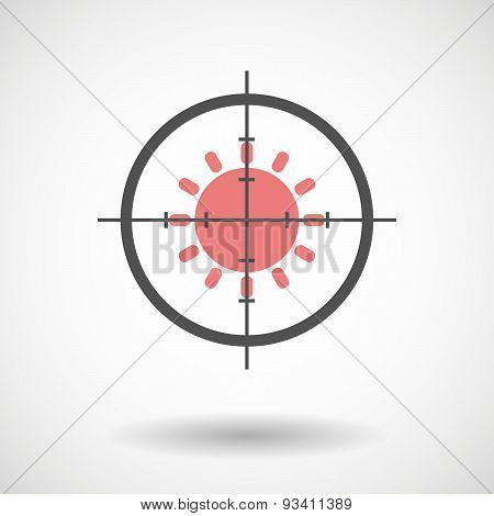Crosshair Icon Targeting A Sun