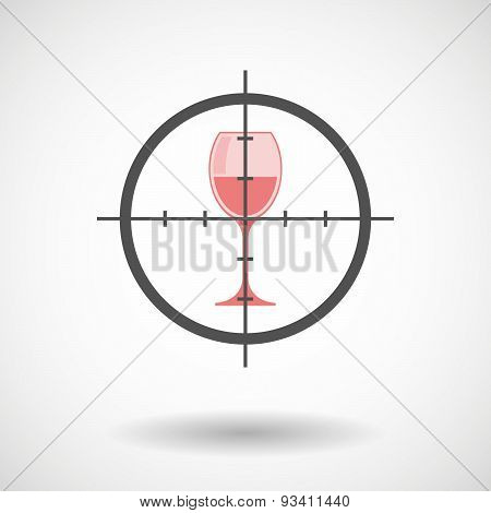 Crosshair Icon Targeting A Glass
