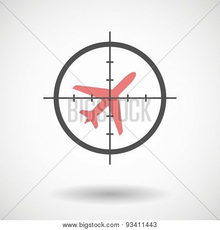 Crosshair Icon Targeting A Plane