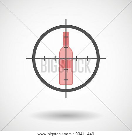 Crosshair Icon Targeting A Bottle