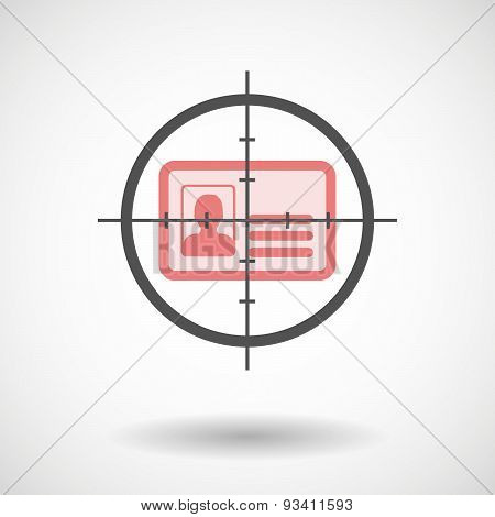 Crosshair Icon Targeting An Id Card