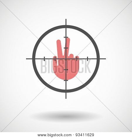 Crosshair Icon Targeting A Victory Hand