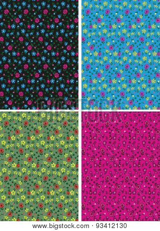 Classical ditsy floral seamless background
