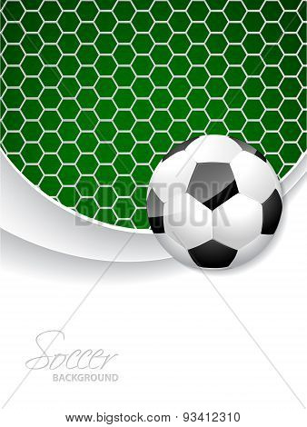 Soccer Brochure Design With Ball And Net