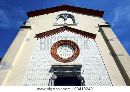 Crugnola Italy     Abstracr Mosaic Sunny Day Rose Window