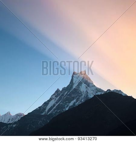 Sunrise In Himalayas