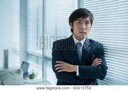 Confident Asian Manager