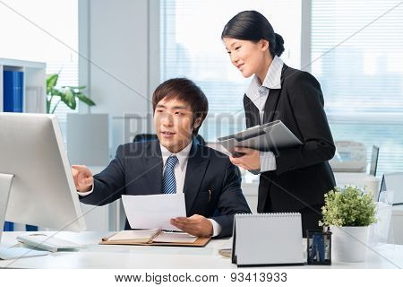 Korean Manager And His Assistant