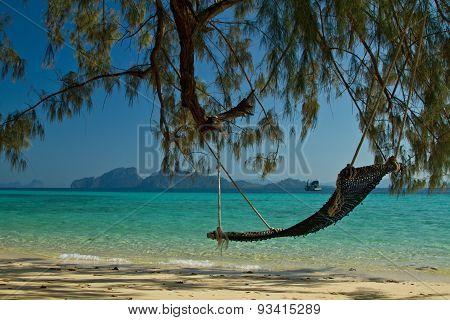 Hammock At The Beach In Thailand