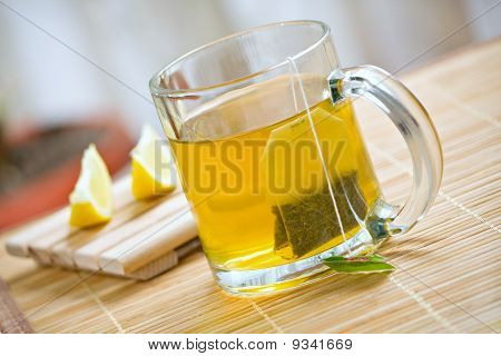 Green Tea Healthy Hot Drink And Lemon