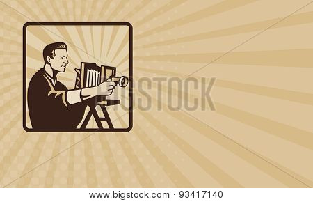 Business Card Photographer Shooting Vintage Camera Retro