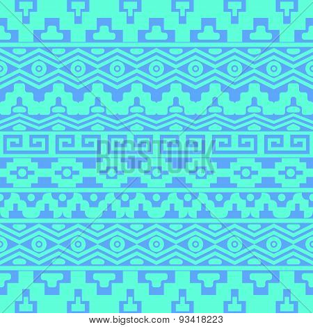 Seamless Pattern With Aztec Ornaments