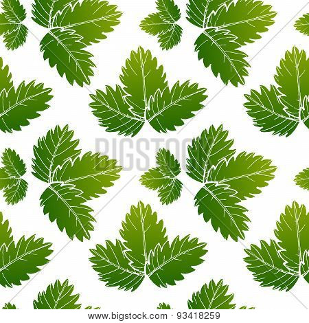 Seamless Floral Pattern, Green And Summer Seasonal Vector Background.