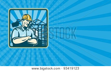 Business Card Construction Engineer Foreman Worker