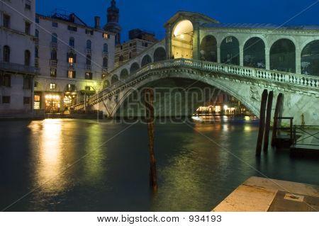 The Rialto Bridge At Night