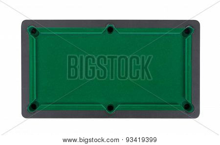 Empty Miniature Billiard Table