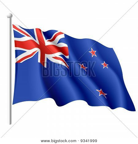 Flag of New Zealand. Vector.