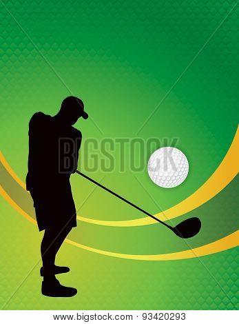 Golf Theme Background Illustration