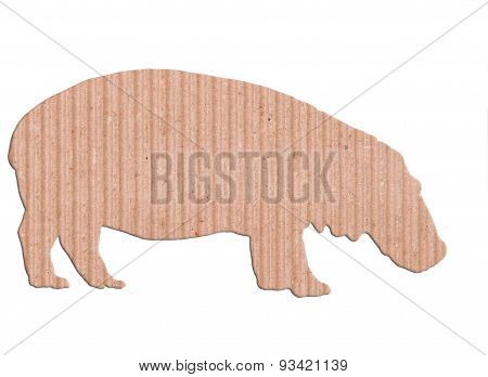 Hippopotamus Shape Paper Box