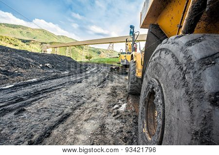 Huge machines used to coal excavation
