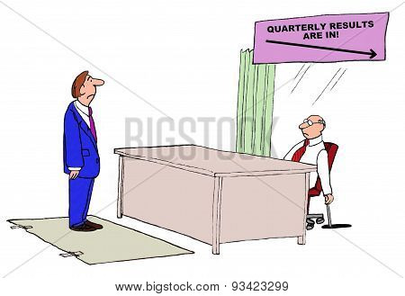 Quarterly Results Are Down