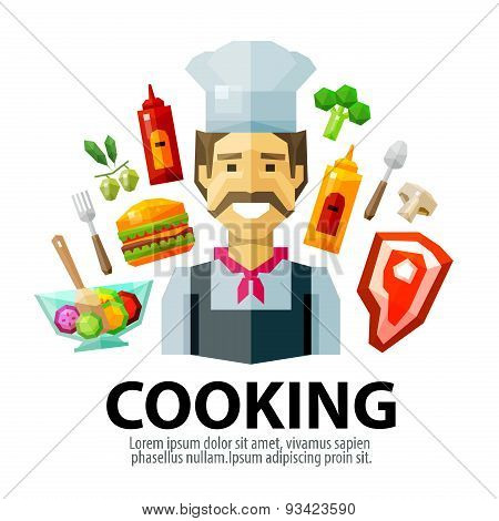 cooking vector logo design template. fresh food or chef, cook icon