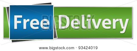 Free Delivery Green Blue Horizontal
