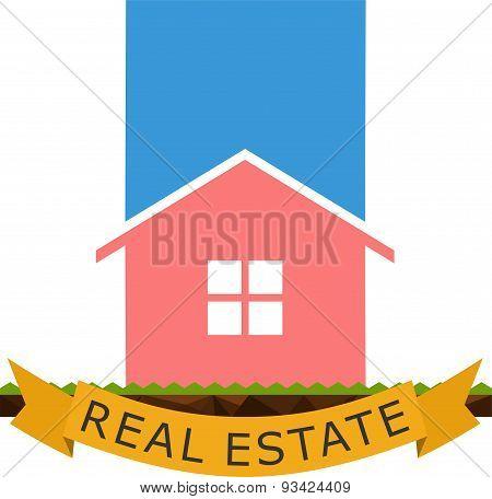 Real Estate Logo Flat