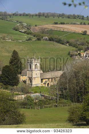Naunton Village Church,cotswolds, Gloucestershire,uk