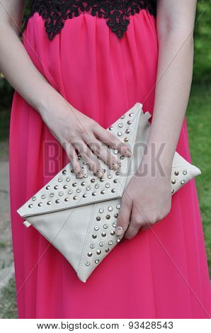Girl Gown Keeps Clutch