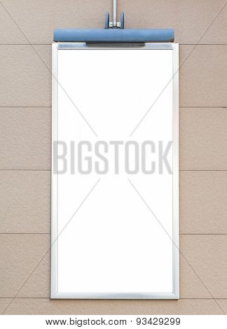 Blank small size metal signboard on concerte wall