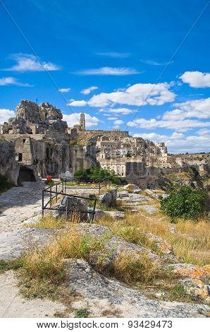 Panoramic view of Matera. Basilicata. Southern Italy.