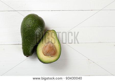 Avocado on a board