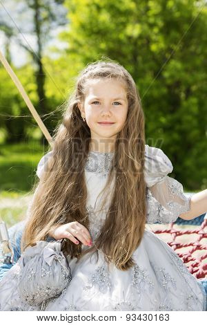 Lovely Child With A Princess Outlook