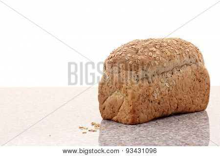 Whole Wheat Bread Sliced On Marble Table