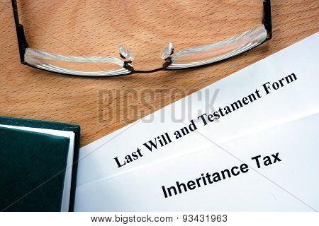 Papers with inheritance tax.