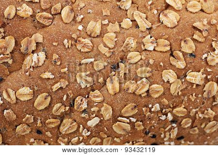 Closeup Whole Wheat Bread Skin