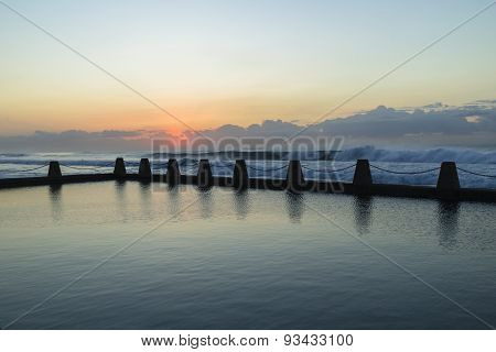 Tidal Pool Ocean Waves Dawn