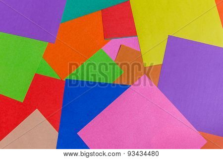 Colorful Background From Paper